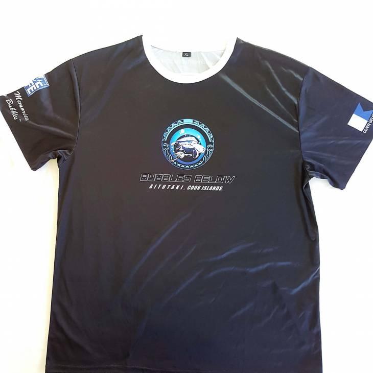 Bubbles Below Black Tshirt Front